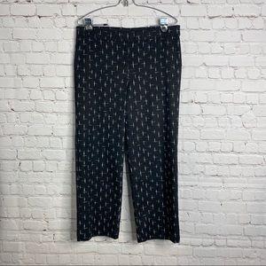J Jill Crop Pants Black Size 10 Zip Flat Front